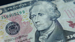 4K United States Ten Dollar Bill Footage