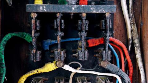 Antique Vintage Circuit Breaker Footage