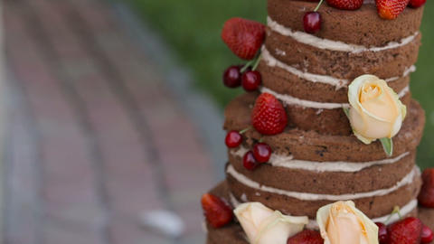 Gourmet tiered wedding cake Live Action