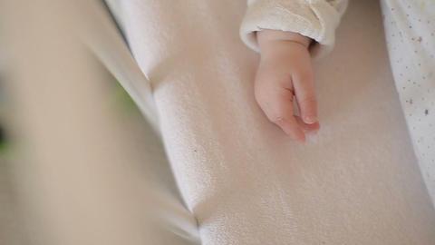 Handle baby closeup Footage