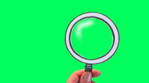 Cartoon Magnifying Glass Footage