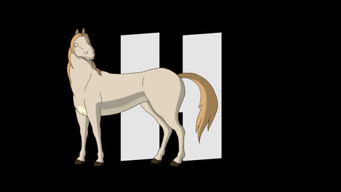 Letter H and Horse (foreground) Animation