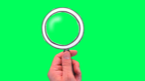 Cartoon magnifying glass Footage