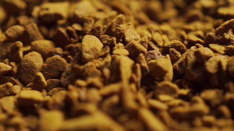 Pile of instant coffee, extreme close up dolly shot Footage