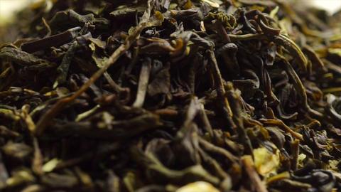 Rotating pile of jasmine green tea, macro video Footage