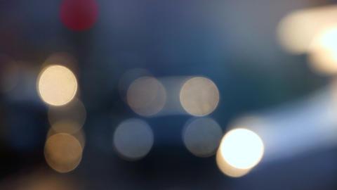 Defocused Of Cars Light Footage