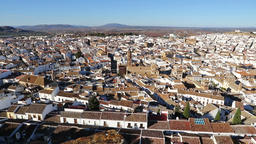 Panoramic view of Antequera city, Andalusia, Spain Footage