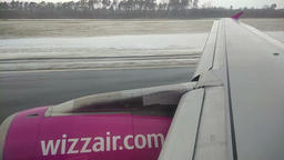 WizzAir A320 airplane takes off from Lublin Airport 영상물