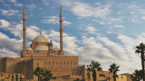 The great Mosque of Muhammad Ali Pasha or Alabaster Mosque. Egypt. Time Lapse Footage