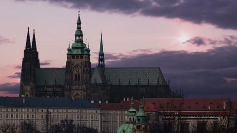 Magnificent sunrise in Prague. Old Town GIF