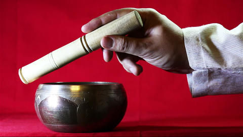The sound of Tibetan singing bowl GIF