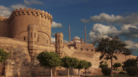 Ancient citadel of Cairo. Egypt. Time lapse Footage