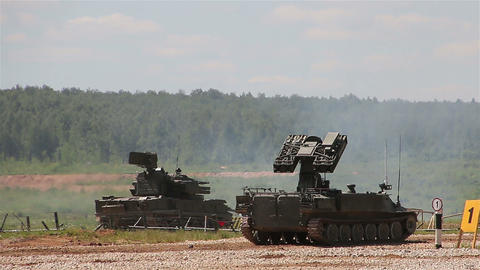Russian armored vehicles in the polygon Live Action
