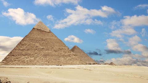 Great Pyramids of Giza. Cairo. Egypt. Time Lapse Live Action