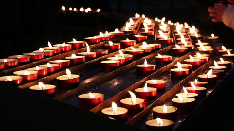 Candles in a church Footage