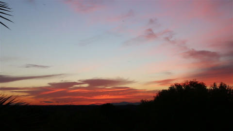 Beautiful tropical sunset. Panorama from right to left 画像
