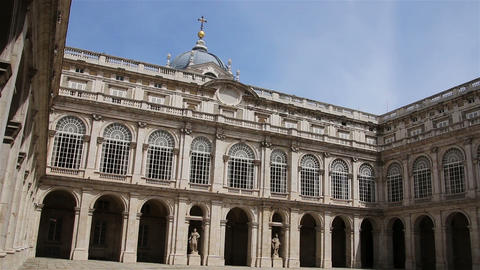 Madrid. Spain. Inner courtyard of the Royal Palace Footage