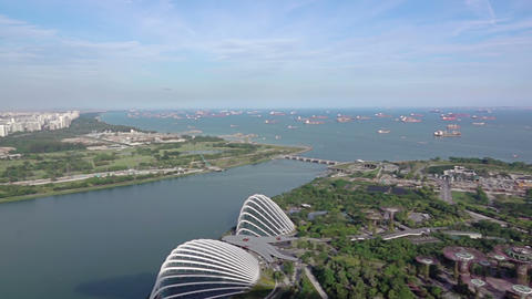Panorama of the Roadstead of Singapore Footage