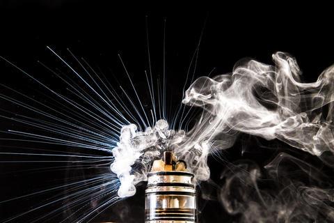 Vaporizer vape explosion - electronic cigarette Photo