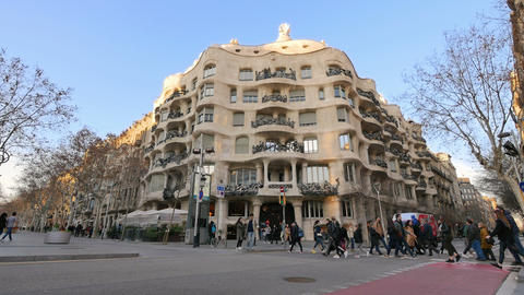 Casa Mila La Pedrera of Antoni Gaudi in Barcelona 영상물