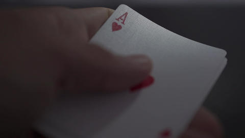 Close up of royal flush cards Live Action