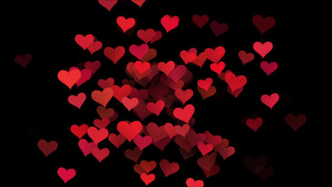 animation for Valentine's day. hearts flying across the screen Footage