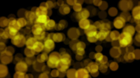 Abstract background with shining bokeh sparkles. Gold particles glitter Live Action