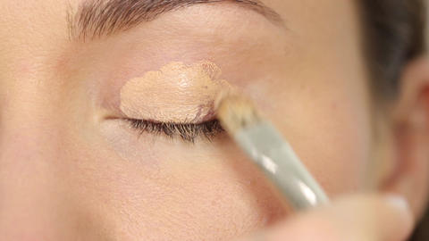 Light foundation for eyes Footage