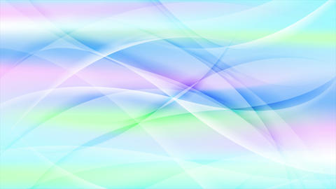 Colorful abstract waves video animation Animation