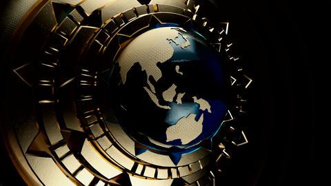 Steampunk Globe V3 GIF