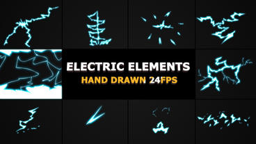 ELECTRIC Elements And Transitions After Effects Template