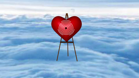 The Angel shooting in heart 3D Model