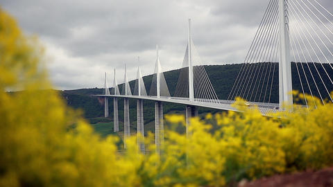 Time-Lapse Of The Cable-Stayed Bridge Footage
