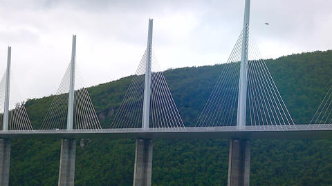 Huge Cable-Stayed Bridge Footage