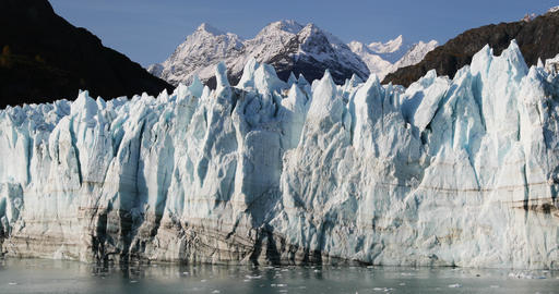 Global warming and climate change concept with melting glacier Footage