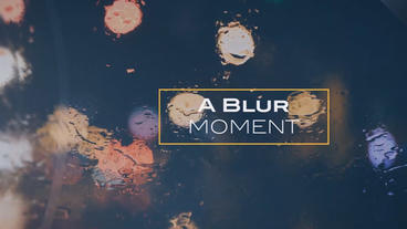 A Blur Moment After Effects Template