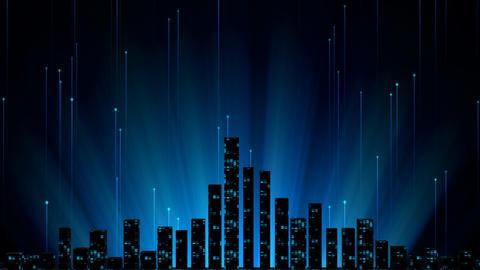 Digital City Night Background CG動画