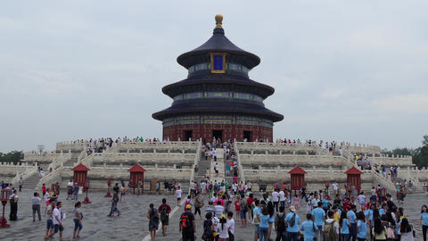 Tourists Visiting The Temple Of Heaven In Beijing China Asia GIF