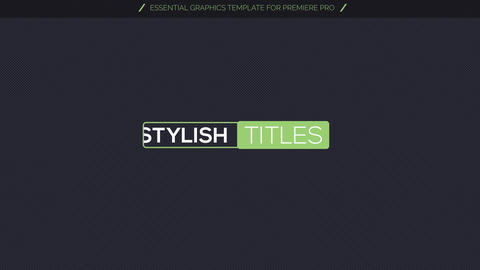 40 Line Titles Motion Graphics Template