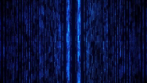 Blue Glowing Matrix Grid Lines VJ Loop Motion Background Animation