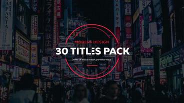 30 Creative Titles Premiere Proテンプレート