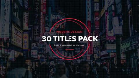30 Creative Titles Premiere Pro Template
