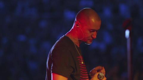 MOSCOW, RUSSIA - AUGUST 23, 2011: Famous Ukrainian singer speak Footage