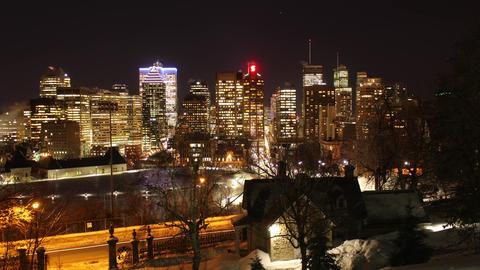 Montreal Skyline Winter Timelapse Footage