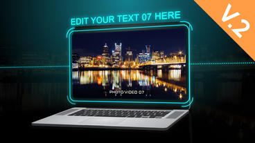 Laptop Presentation (V.2) - After Effects Template After Effects Template