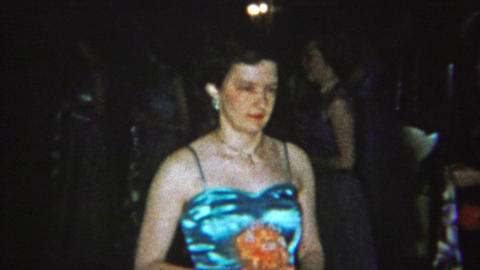 1965: Solemn adult sorority sisters walking slow ceremony event Footage