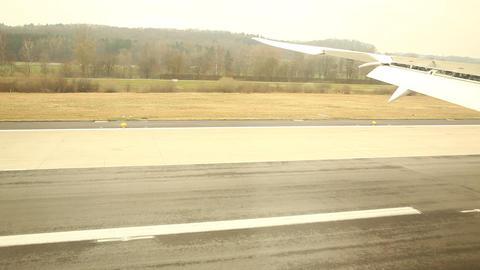 Flight at runway Footage