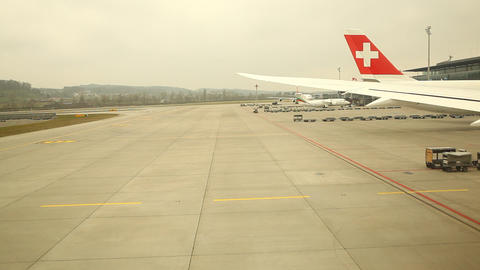 Flight At Air Port stock footage