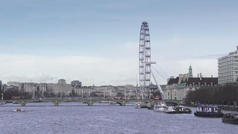 London skyline with London Eye 15th january 2016 Live Action