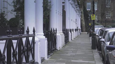 Sidewalk in London Kensington Live Action